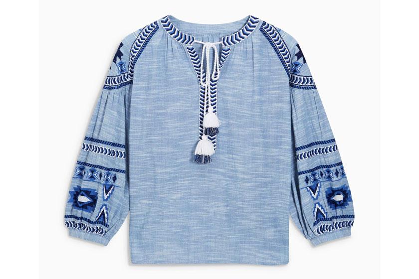 Next embroidered shirt